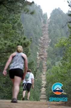 The Manitou Springs Incline is now open to hikers gaining about 2,000 feet elevation over one mile, the Incline is, perhaps, the most unique and challenging trail in the country, attracting runners, Olympic athletes and cyclists. The trail is also used by military personnel and even soccer moms. #ColoradoSpringsVacation