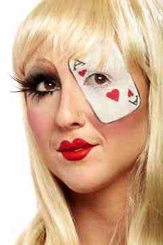 Alice in wonderland makeup idea Lady Gaga Halloween, Halloween Looks, Halloween Face Makeup, Halloween Ideas, Halloween Costumes, Halloween Stuff, Scary Costumes, Halloween Halloween, Alice In Wonderland Makeup