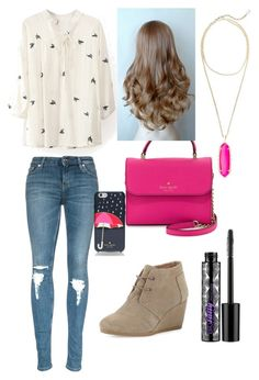 """Untitled #272"" by mkhays on Polyvore featuring TOMS, Kendra Scott, Kate Spade, Urban Decay, women's clothing, women, female, woman, misses and juniors"