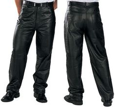 Classic Fit Biker Motorcycle Or Casual Men's Leather Pants Discount Price: $99.00 You save 63.33%