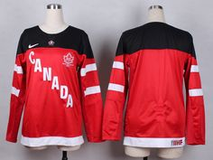 Women Team Canada #Blank Red 100th patch 1914-2014 Jersey