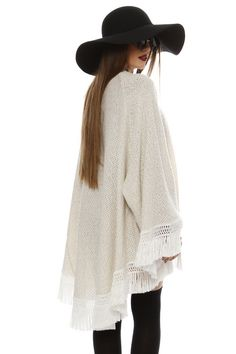 Made Of Grace Boho Knit Kimono - ΡΟΥΧΑ -> Jackets & kimono | Made of Grace
