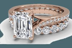 Rose gold and diamonds