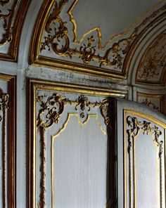 detail of damaged boiserie at the Palace of Versailles - France - 18th century photo by POLIDORI, Robert | Galerie de Bellefeuille