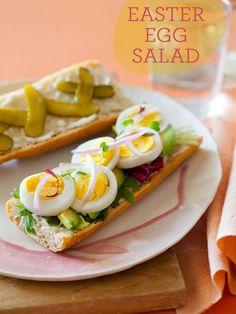 """Egg """"Salad"""" Sandwich - A deconstructed version of a regular egg salad sandwich."""