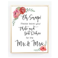 Photo Guest Book Sign - 8x10 Digital File - Instant Download by DayAndDetails on Etsy