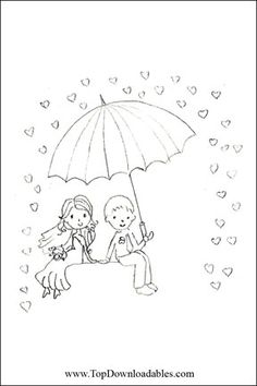 free printable coloring pages for weddings