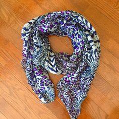 Purple Cheetah Print Scarf Lightweight cheetah print scarf! Very soft! Accessories Scarves & Wraps