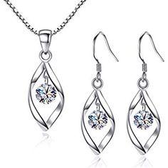 Beydodo Chandelier Earrings Delicate Wedding Earrings for Mother Star Moon Round Cut White Cubic Zirconia