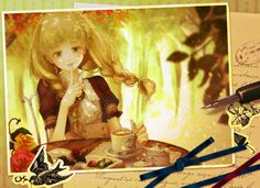 anime girl in photograph