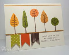 A Muse Studio Challenge - Goodbye Summer, Hello Fall! - love the stamp set - might be papertrey ink?