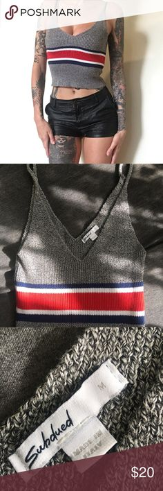 Italian Ribbed Knit Tank I bought this at a boutique. It's great quality in excellent condition. Size Medium. Very stretchy. Tops Tank Tops