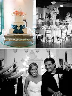 I love this cake and how it is displayed, and love the navy ribbon...stunning!