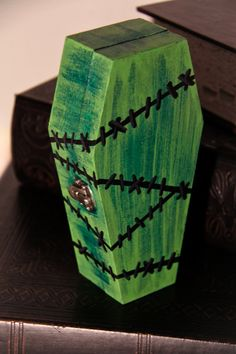 Hand Painted Frankenstein Stitches Coffin by TwoTwentyTwoClothing, $30.00