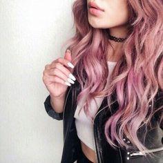 Цветные волосы: розовые, фиолетовые, красные!