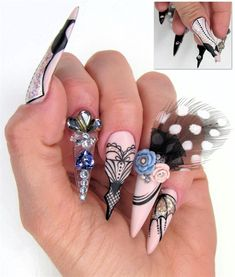 Akzentz challenged the Top 11 to take inspiration from days gone by. They had to make a nail design based on a vintage fashion piece or period. They were then required to dress up nails on five tip… Vintage Couture, Vintage Fashion, Nails 2017, Nail Ring, French Tip Nails, Top Nail, Nail Art Galleries, Nails Magazine