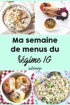 L'index glycémique, une indication très importante quand on veut maigrir. Voici une semaine de menus avec des plats à IG bas. /// #aufeminin #indice #glycemique #ig #index #glycémie #régime #menus #idéesmenu #idéesrecettes #repas #minceur