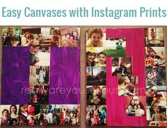 How to Print Instagram Photos   DIY Wall Canvas Art