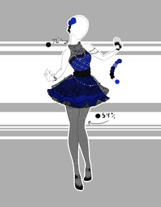 Adoptable by Scarlett-Knight on DeviantArt.::Outfit Adoptable by Scarlett-Knight on DeviantArt Clothing Sketches, Dress Sketches, Dress Drawing, Drawing Clothes, Fashion Design Drawings, Fashion Sketches, Anime Body, Anime Pokemon, Cute Dresses