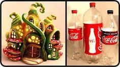 (2) diy enchanted fairy house lamp using coke plastic bottles - YouTube