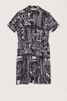 Art De Crayon Shirt Dress
