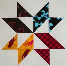 Bertha's Pinwheel star. Love!