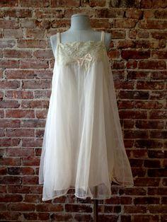 Size M  VAN RAALTE Vintage Nightgown  1950s by 58petticoats, $48.00