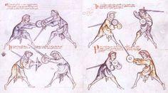 """Anonymous Fechtbuch:  Manuscript  I.33""   13th century German   Sword & Buckler Manual"