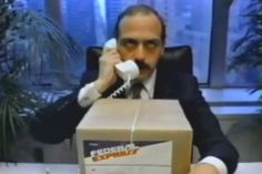 """Fed Ex's """"Fast Talker"""" campaign (1982)"""