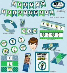 Ben 10  Party Printables  DIY PDF by worldwideparty on Etsy