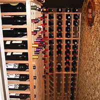 Under the Stairs A small closet under stairs can become an attractive wine cellar – and for a personal touch, corks can be hand-glued to the wall (as our ingenious client did here! In this photo Premium Series Cellar Racks Under Stairs Wine Cellar, Wine Cellar Basement, Wine Rack Design, Wine Cellar Design, Wine Rack Inspiration, Unique Wine Racks, Home Wine Cellars, Wine Storage, Storage Ideas