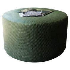 Brand new cocktail ottoman. Upholstered in dark green PVC faux leather. Hand-crafted from the scratch in our workshop by professional upholsterer. Cocktail Ottoman, Soft Furnishings, Outdoor Furniture, Outdoor Decor, Workshop, Cushions, Interior Design, Dark, Green