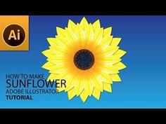 YouTube How To Make Sunflower, Mesh Tool, Adobe Illustrator Tutorials, Video Tutorials, Graphic Design, Drawings, Illustration, Tips, Youtube