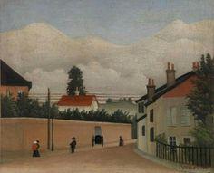 Henri Rousseau (French, 1844-1910),Environs de Paris, c. 1895. Oil on canvas,37.8 x 45.7 cm (14.9 x 18 in).