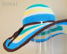 CROCHET PATTERN Poolside a wide brim sun hat by TheHatandI