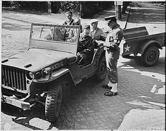 The WW II jeep with MB-T or T3 trailer, Potsdam, Germany, 14 July 1945
