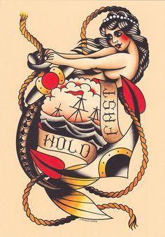 traditional female pirate tattoo - Google Search | Tatoos ...