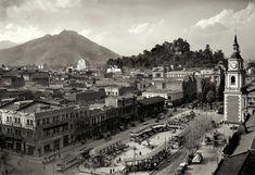 chile Santa Lucia, Iglesia San Francisco, Antique Photos, Old Pictures, Big Ben, Paris Skyline, Past, Dolores Park, History