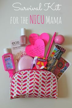 Survival Kit for a mama who has a baby in the NICU - this is such an easy, practical, meaningful way to bless someone going through such a difficult time. And every item can be purchased at Target! Gifts For New Parents, Gifts For Mom, Diy Gifts, Preemie Mom, Preemies, Happy Home Fairy, Blessing Bags, Survival Supplies, Survival Kits