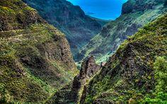 Lataa kuva Vuoret, kesällä, kiviä, Kanarian Saaret, Espanja, Tenisa