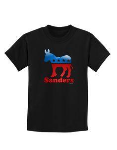 TooLoud Sanders Bubble Symbol Childrens Dark T-Shirt