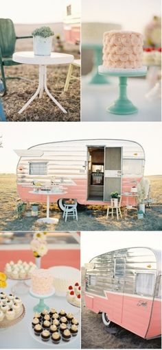 I'm not sure what this is for...but I am loving it!  Don't think hubby would like camping in a pink trailer though!
