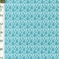 Little Things Organic Fabric  Rain By Arrin by FeatheredNest97030