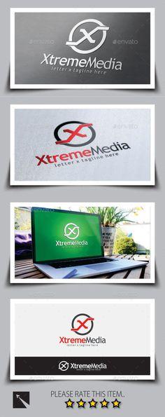 Xtreme Media Letter (X) Logo Template