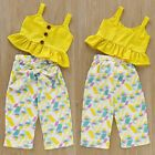 Color: As picture show. Quality is the first with best service. What You Get We will try our best to reduce the risk of the custom duties. girl US Toddler Infant Kids Baby Girl Top T-shirt+Long Pants Outfits Set Clothes Set Baby Girl Dress Patterns, Baby Dress Design, Dresses Kids Girl, Kids Outfits Girls, Girls Summer Clothes, Girls Dresses Sewing, Sewing Baby Clothes, Dresses Dresses, Kids Frocks Design