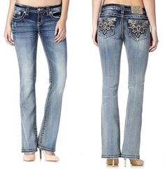 MISS ME MOON RISE BOOT CUT JEANS MW8234B Band Outfits, Emo Outfits, Moon Rise, Country Outfits, Miss Me Jeans, Cut Jeans, Western Wear, Harley Davidson, Leather Jacket