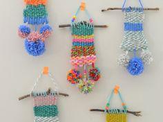 DIY yarn wall hangings
