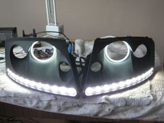 Pair of LED DRLs with angel eyes - Audi TT