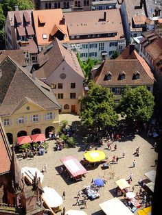 Looking down from the Freiburger Münster