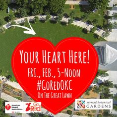 Myriad Gardens Goes Red for National Wear Red Day® on February 5 Myriad Gardens, Myriad Botanical Gardens, Red Day, Garden Posts, Garden Games, Go Red, Garden Pictures, Lawn, February 5